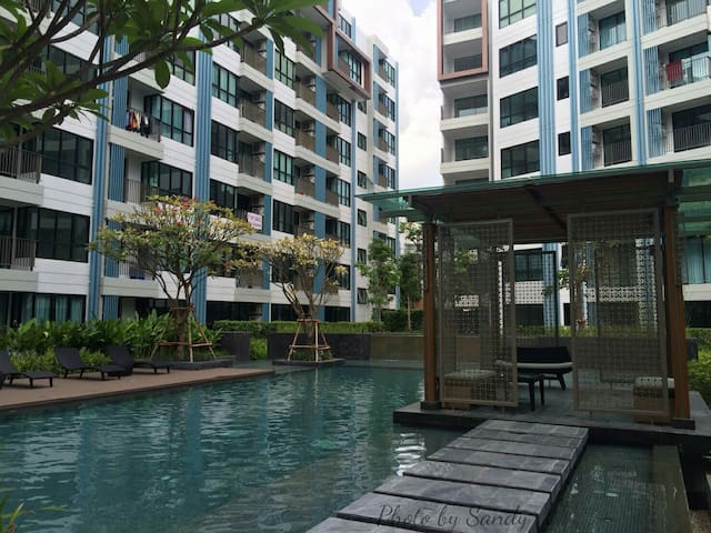 New condo Phuket town/Pool/Wifi/Gym - Wichit - Appartement