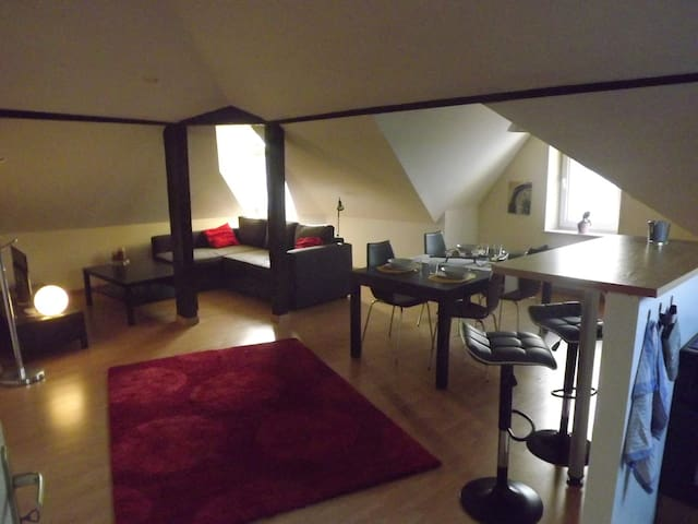 Loft Périphérie Centre ville + parking privatif - Metz - Apartamento