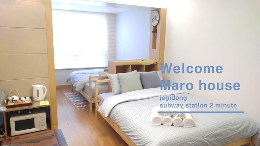 ★Cozy Wide Maro house/Jegi-Dong St. - Dongdaemun-gu - Wohnung
