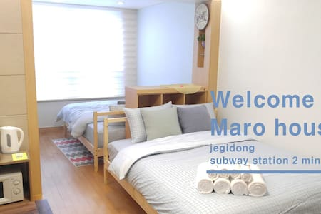 ★Cozy Wide Maro house/Jegi-Dong St. - Dongdaemun-gu - Daire