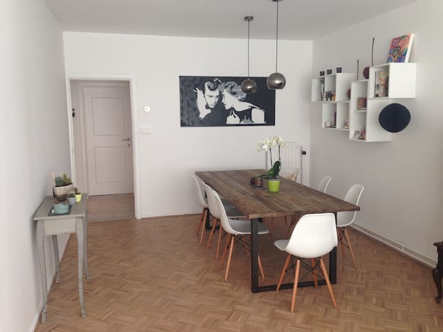 Cosy flat in city centre w/terrace - Anvers - Daire