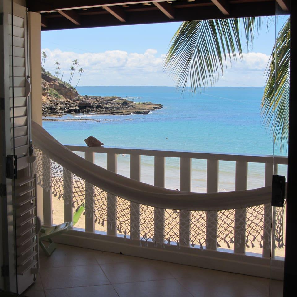 Vista Mar magnífica da varanda e do quarto de casal