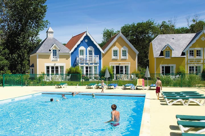 VIP-house for 6 people, park Belle Dune in Fort-Mahon-Plage near the beach and sea