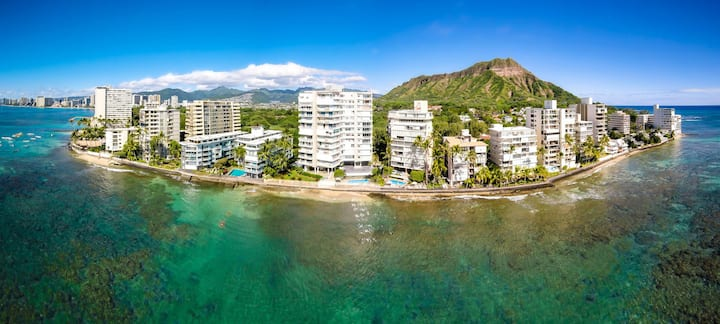 Diamond Head Beach Hotel 1 bdrm+kitchen钻石头海滩酒店一房一厅