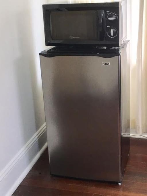 Small refrigerator and microwave