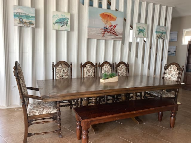 Large Dining Table for 10-12 on 1st floor