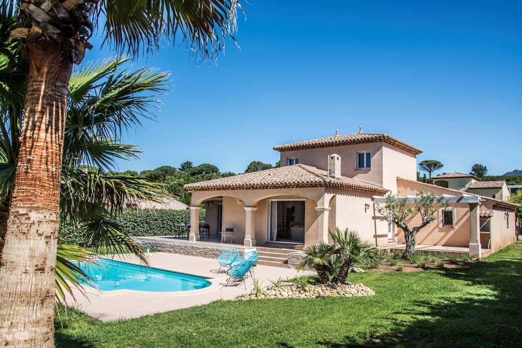 Villa plein sud, avec deux terrasses ou il fait bon vivre