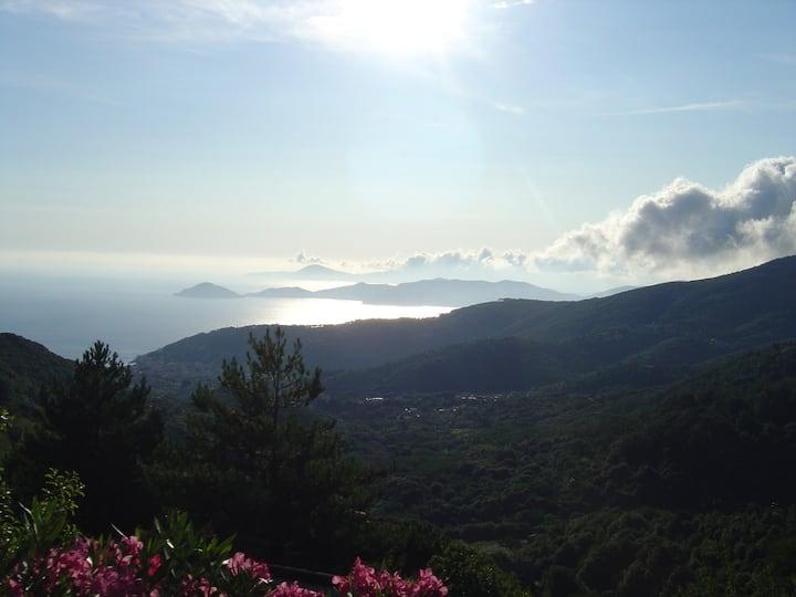 Appartamento panoramico a Marciana, Isola d'Elba