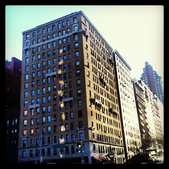 The apartment is on W. 79th between Columbus Avenue and this corner, Amsterdam and 79th.