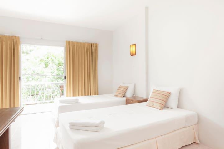 Twin Bed & Balcony.HKT, Naiyang B.