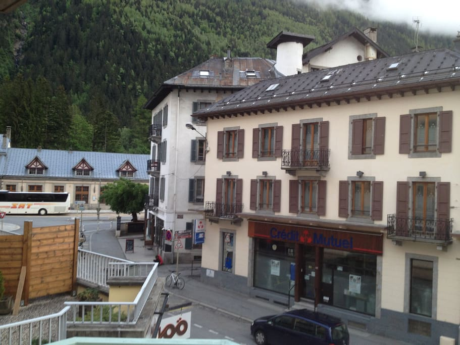 In the heart of Chamonix...