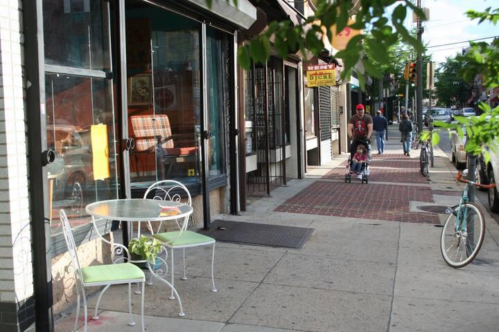 Sunny South Philly Row - Rocky Room