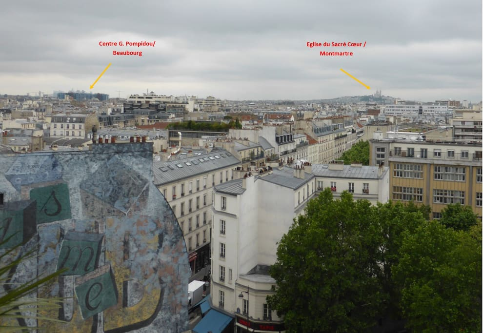 View on the Sacré Cœur from the terrasse