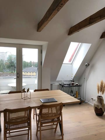Rooftop apartment in the heart of Aarhus