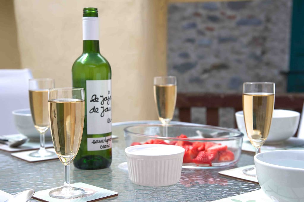 Long lovely lunches on the terrace