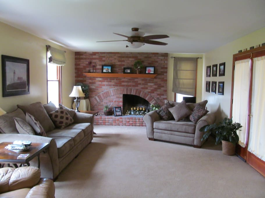Comfortable breezy family room.