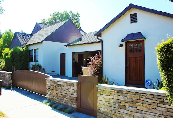 Private guest house with separate entrance on estate property.