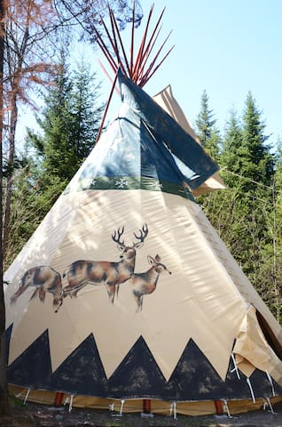 Tipi - privacy and mountain views