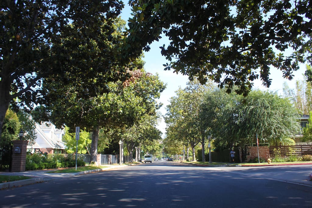 Quiet tree lined streets, three blocks to bars and restaurants on Riverside Drive.