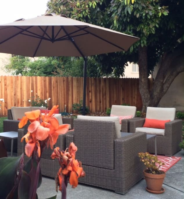 Enjoy our brand new outdoor living area and BBQ grill.