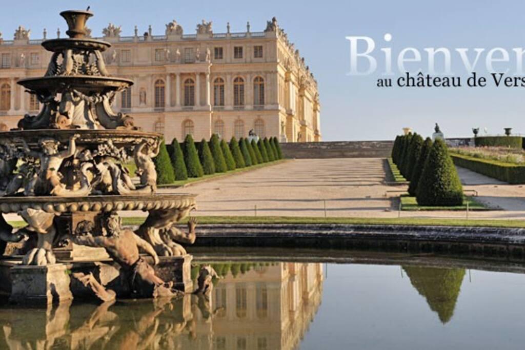 Le château de Versailles, à 5 min de bus