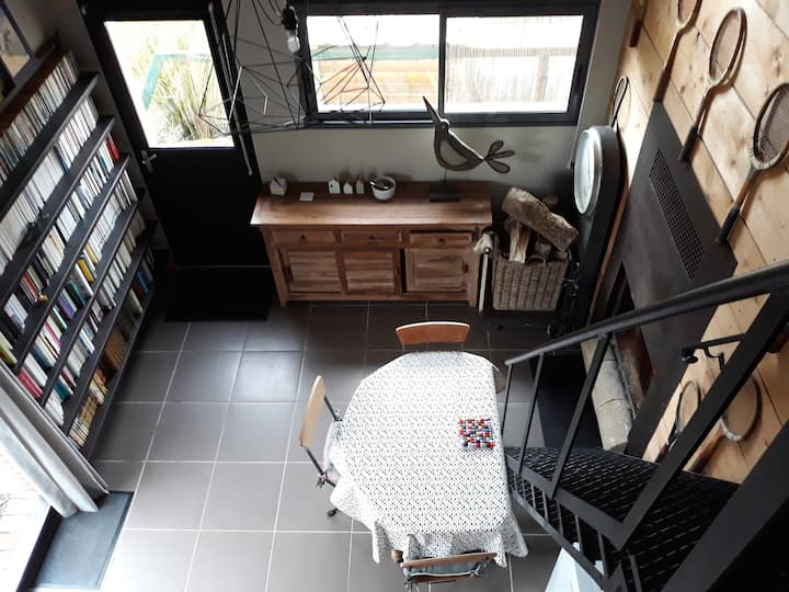 Maison type loft cosy  à la campagne proche Amiens