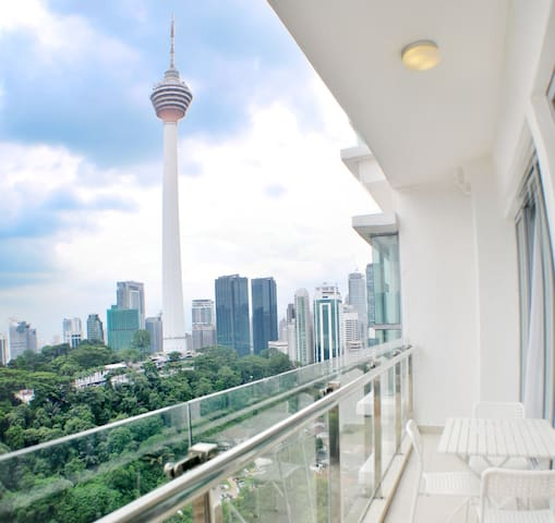 Balcony with Perfect KL Tower View