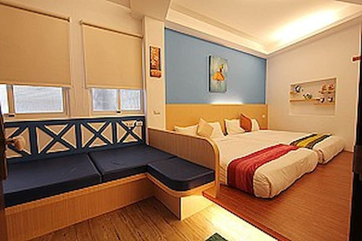 墾丁旅店-DELUXE FAMILY 4 ADULTS-豪華4人房 - Hengchun Township - Apartamento