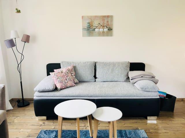 Sofa (zum Schlafsofa umbaubar)