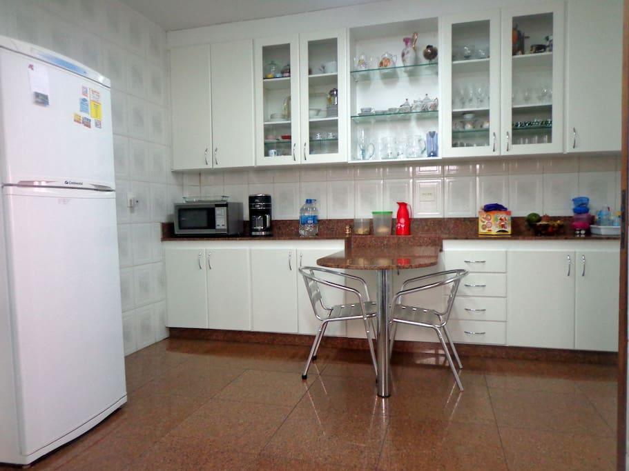 Visão parcial da cozinha