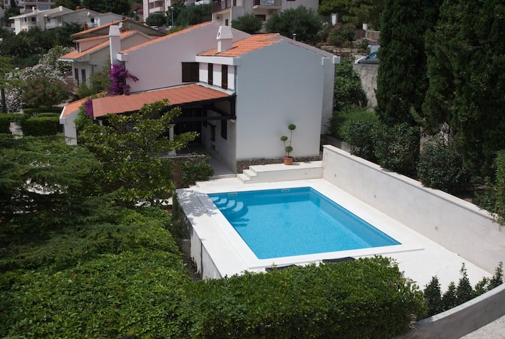 Villa Skalinada with pool and terraces