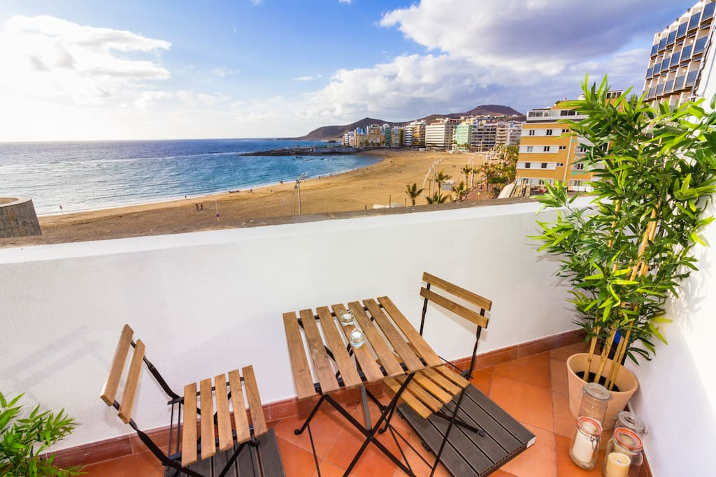 Balcony and beach views