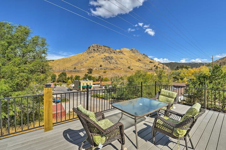 Central Lava Hot Springs Studio w/Deck & Views!