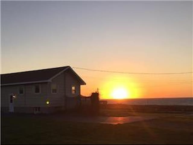 Sunset over Lobster Bay Bungalow