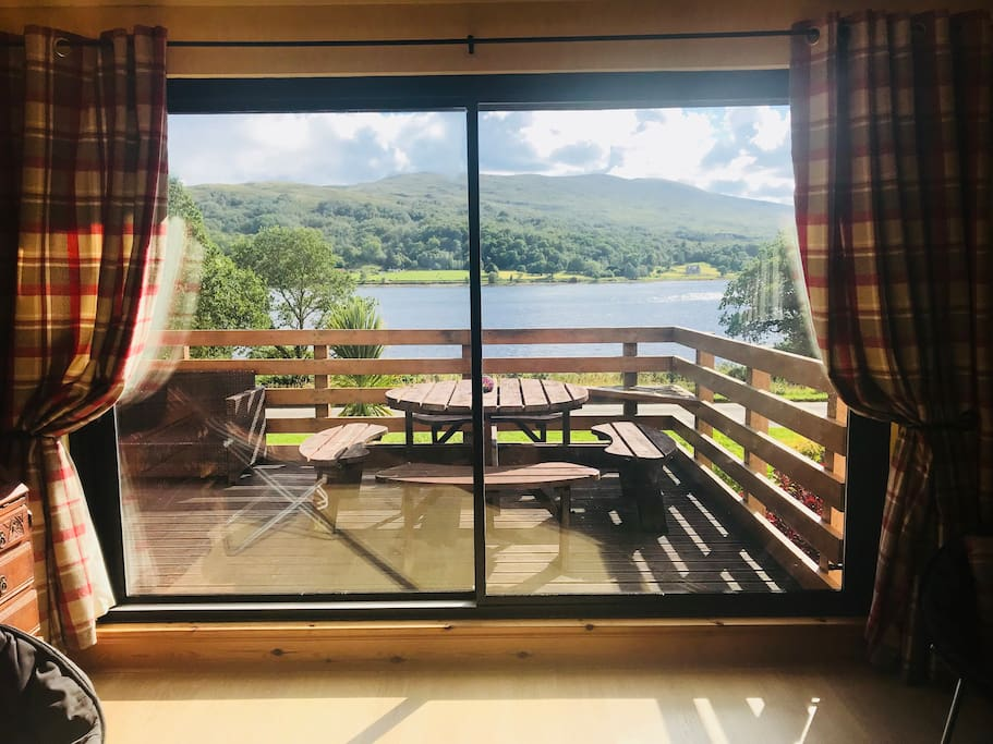 View from the lounge overlooking Loch Eil
