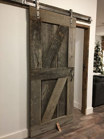 Barn doors enhance city stable history of this unique space