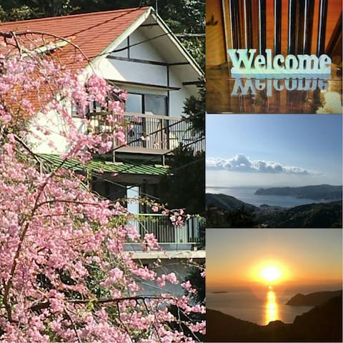 Modern villa with hot spring☆Free WiFi☆8guests