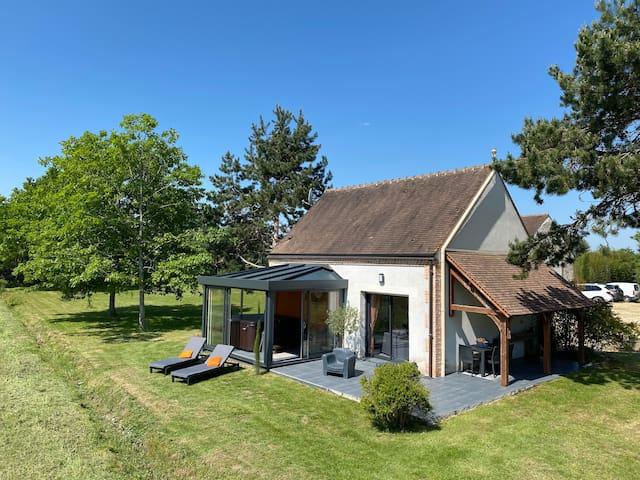 Maison au cœur des étangs de Sologne avec SPA