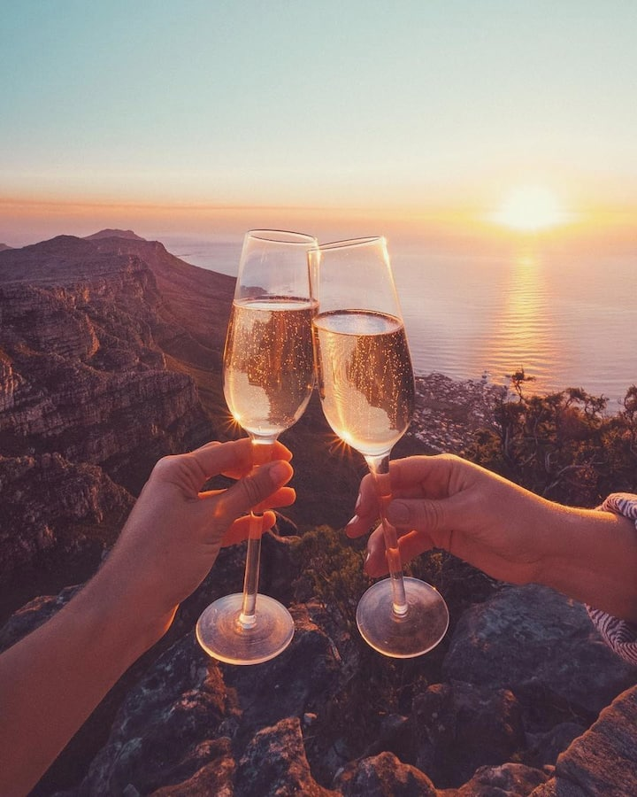 Enjoy Wine when you reach the top.