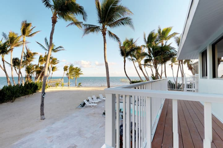 Dog-friendly, waterfront home w/ a private pool, hot tub & private beach