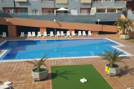 Apartment with pool and 50 m from the beach! - Puertito de Güímar - Appartement
