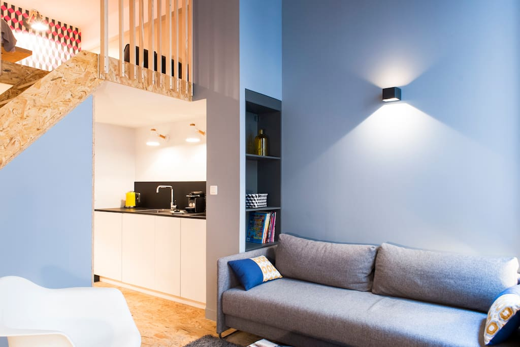 loft 2 design hotel de ville lofts louer lyon 1er arrondissement auvergne rh ne alpes france. Black Bedroom Furniture Sets. Home Design Ideas