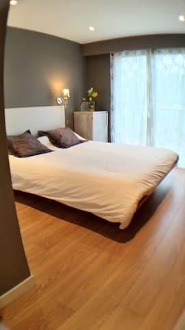 Spacious bedroom with roomy storage