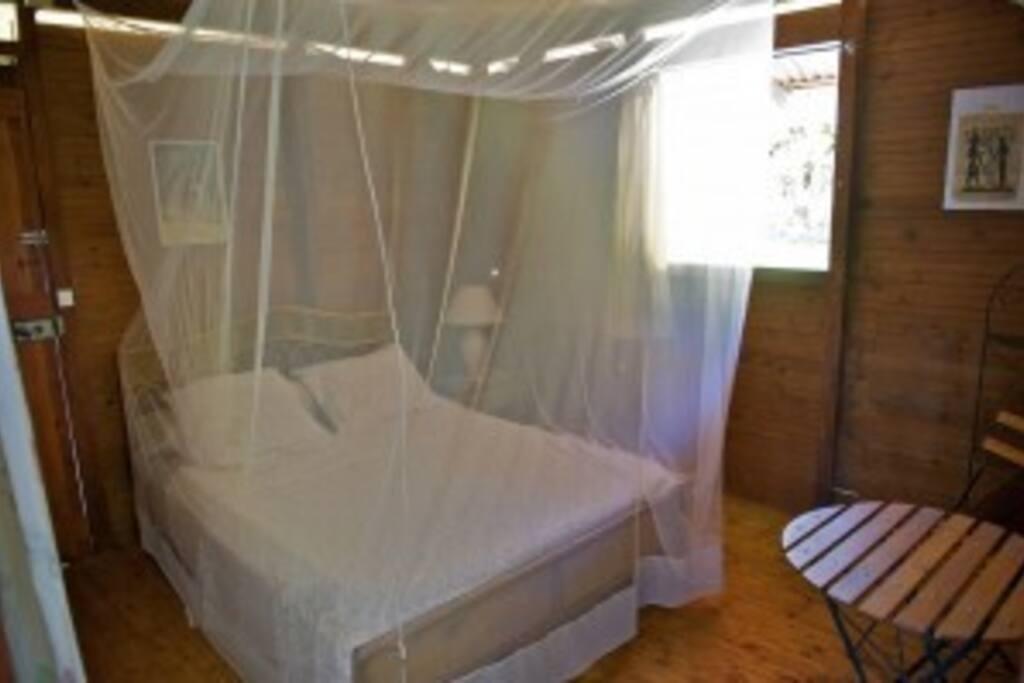 toutes les chambres sont équipées de moustiquaires et de braseurs d'air
