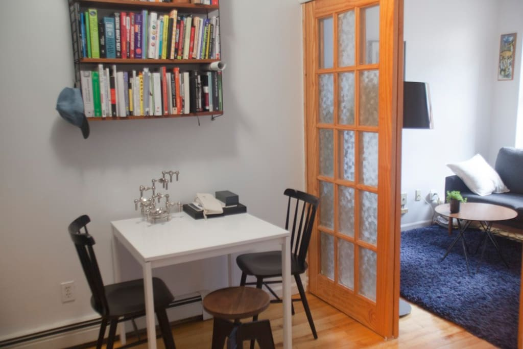 Dining table in kitchen/main room