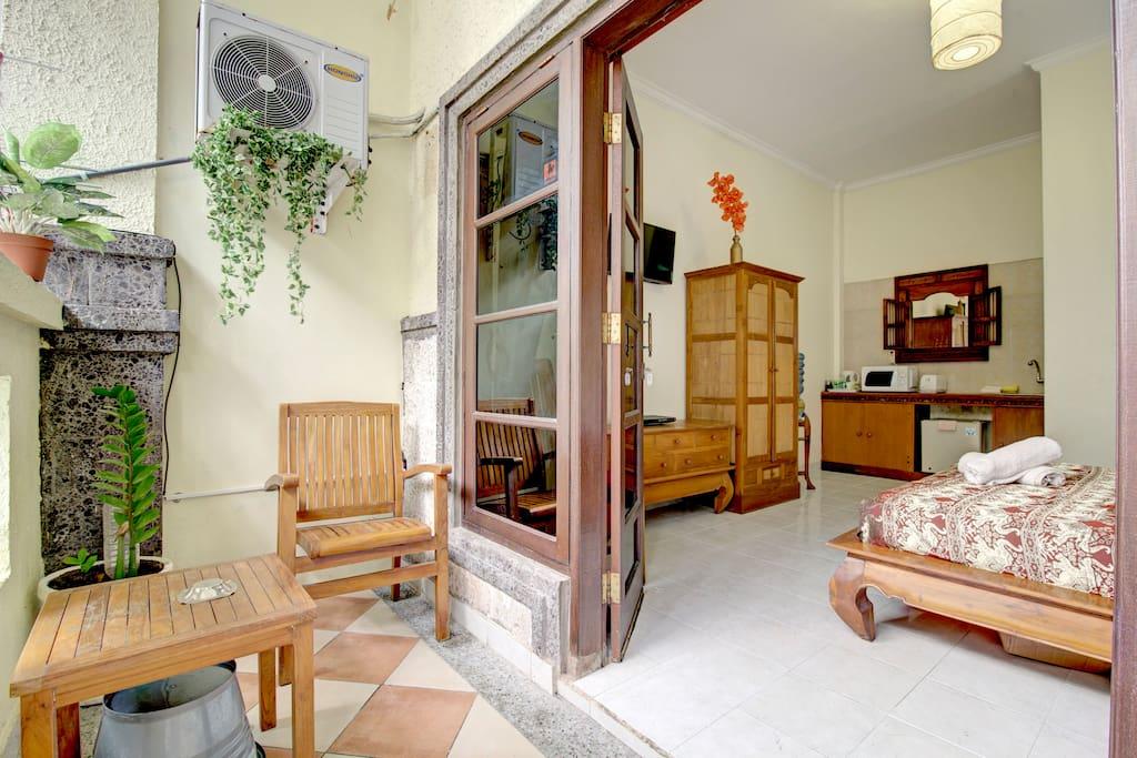 French doors onto verandah