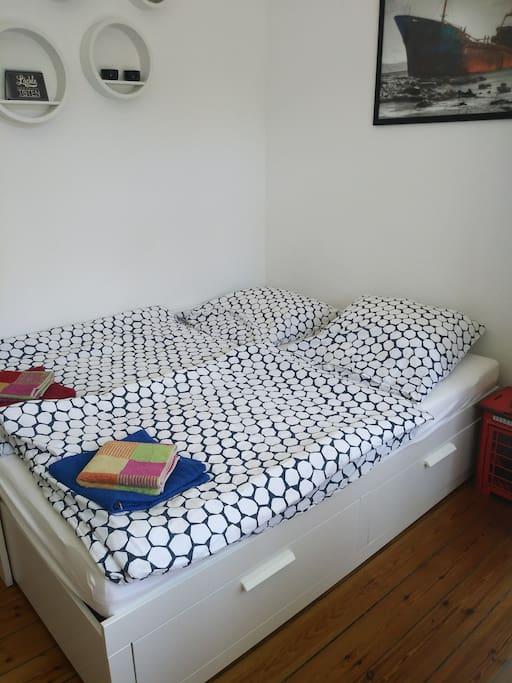 Bett für 2 Gäste