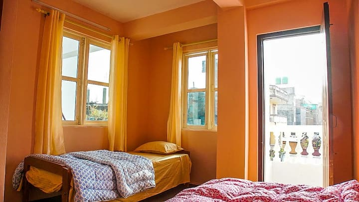Deluxe Twin Bed Room-Durbar Square Backpackers Inn