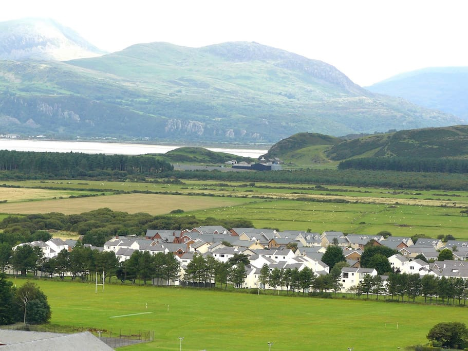 View of Glan Gors from upper Harlech