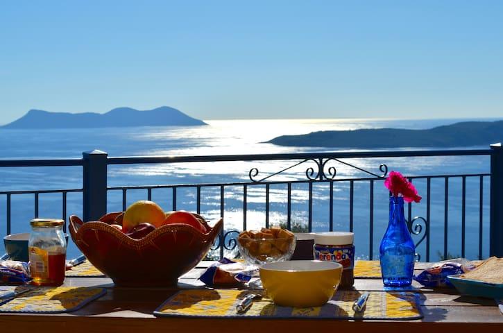 Villas Balcony, Endless Sea View  - Apollonioi  - Vila